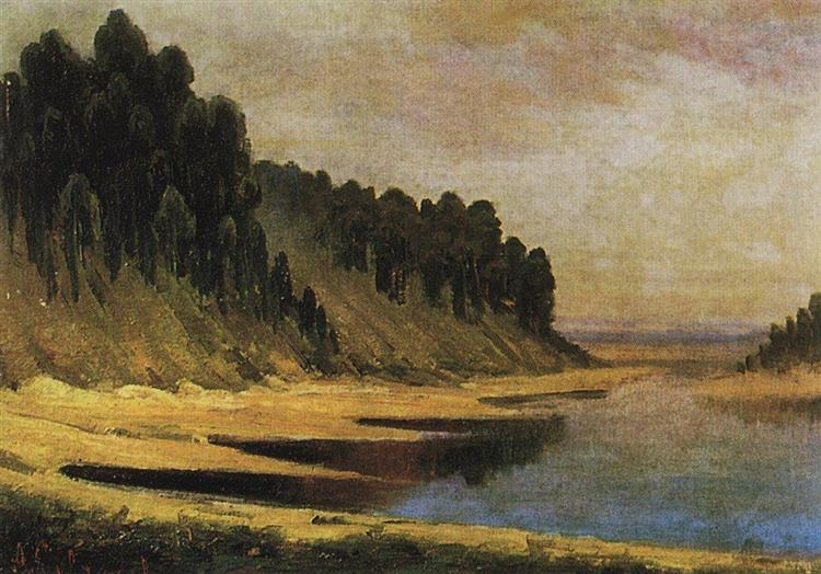 Wooded banks of the Moskva River, 1859 - Aleksey Savrasov