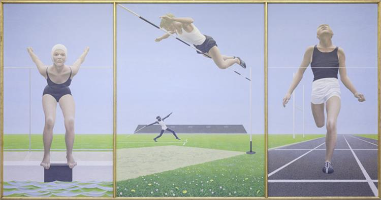 Athletes, 1960 - Alex Colville
