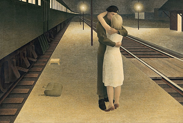 Soldier and Girl at Station, 1953 - Alex Colville
