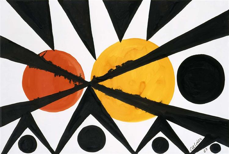 Across the Orange Moons, 1967 - Alexander Calder