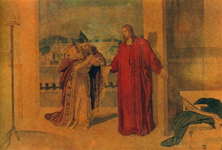 Jesus and Nicodemus, c.1855 - Alexandre Ivanov