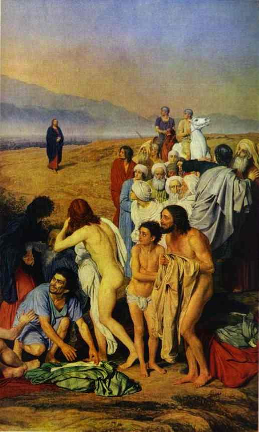 The Appearance of Christ to the People (detail), 1845
