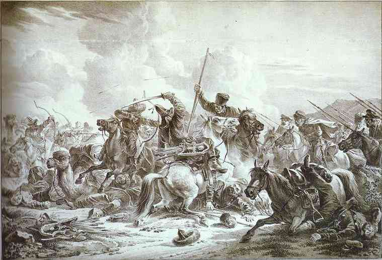 Battle of Cossaks with Kirgizes, 1826
