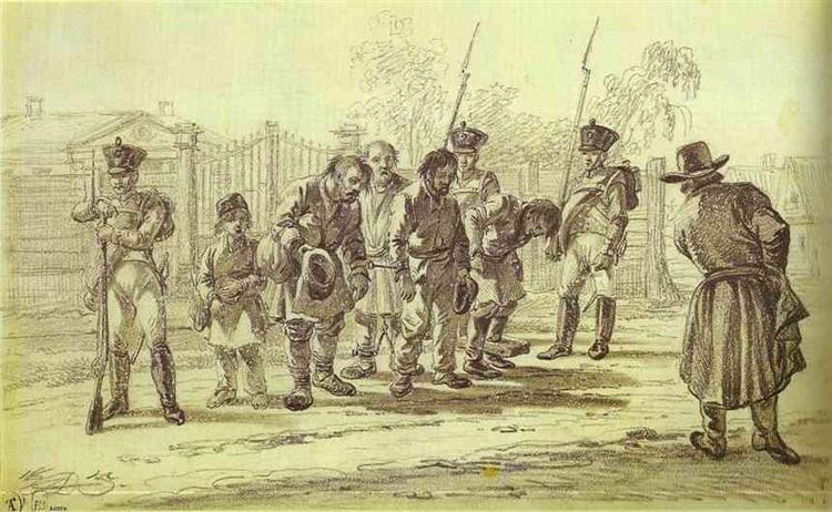 Convicts under Escort, 1815 - Alexander Orlowski