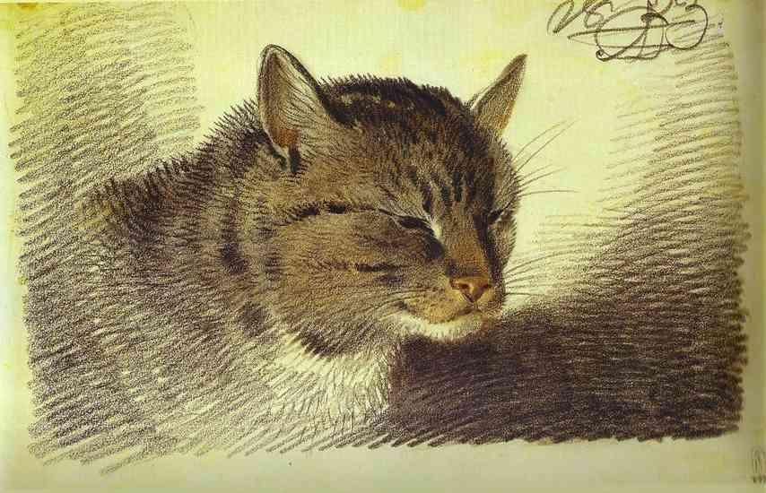 Head of a Cat, 1823