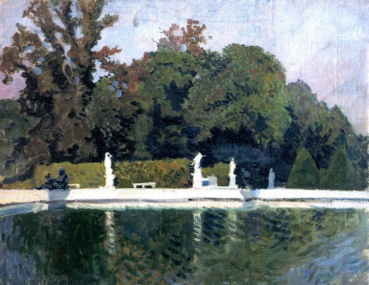 Versailles. Water parterre, 1905 - Alexandre Benois