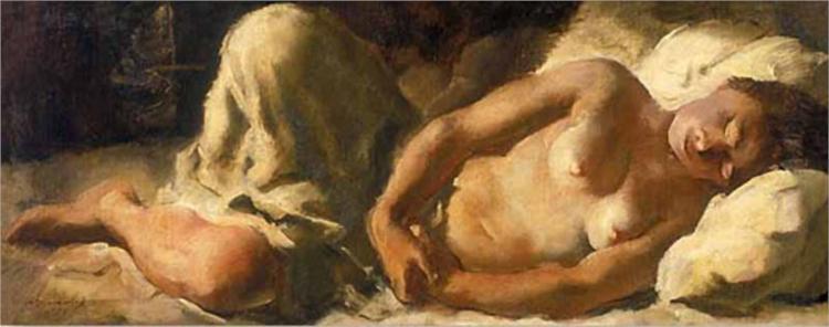 Nu dormir - Jacovleff Alexandre