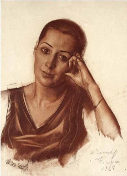 Woman's portrait - Alexandre Jacovleff