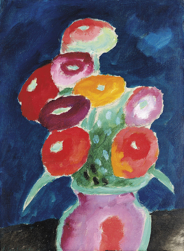 blumen in einer vase alexej von jawlensky encyclopedia of visual arts. Black Bedroom Furniture Sets. Home Design Ideas