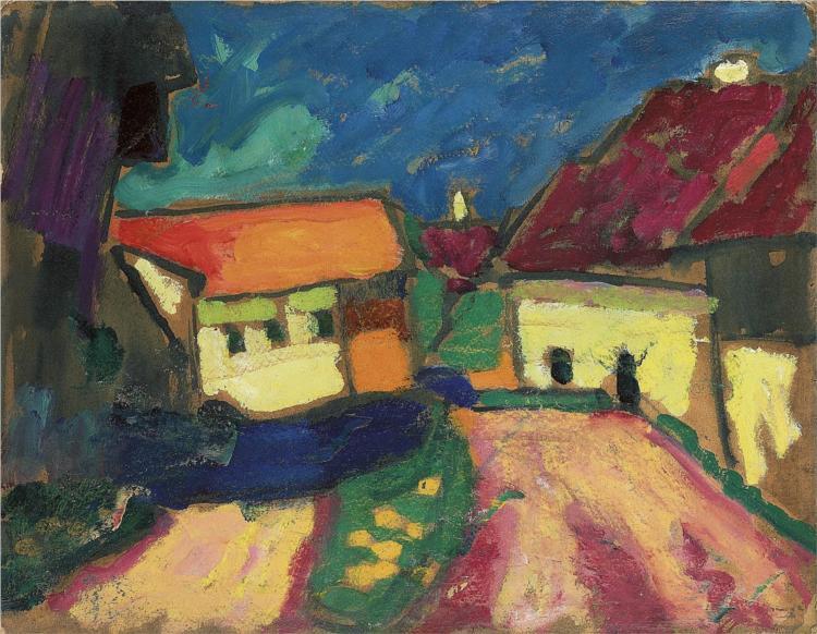 Landschaftstudie - Dorfstrasse - Alexej von Jawlensky