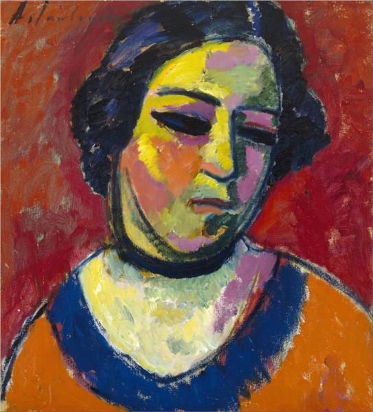 Portrait of a Woman, 1912 - Алексей фон Явленский
