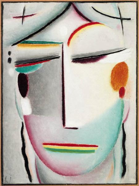 Saviour's Face: Distant King - Buddha II - Alexej von Jawlensky