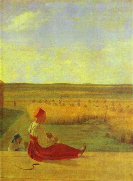 Harvesting. Summer, 1827 - Alexey Venetsianov