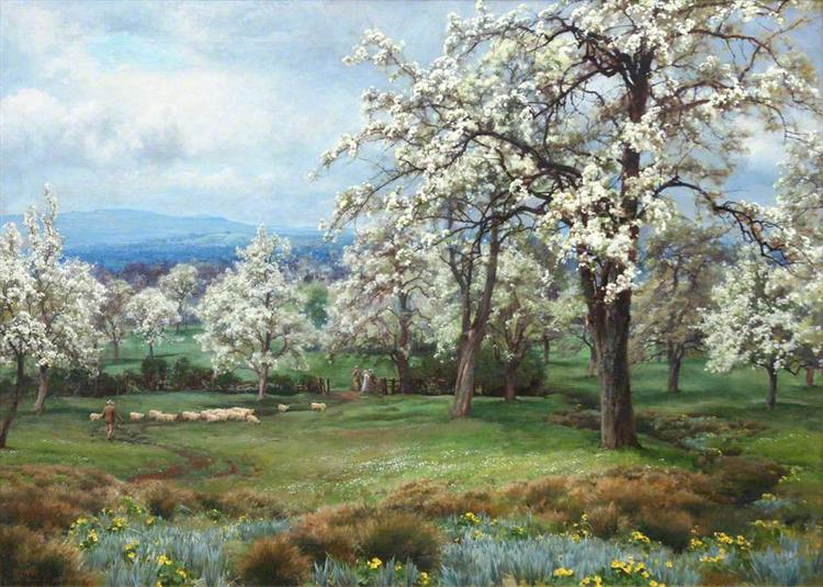 The Pear Orchard - Alfred Parsons