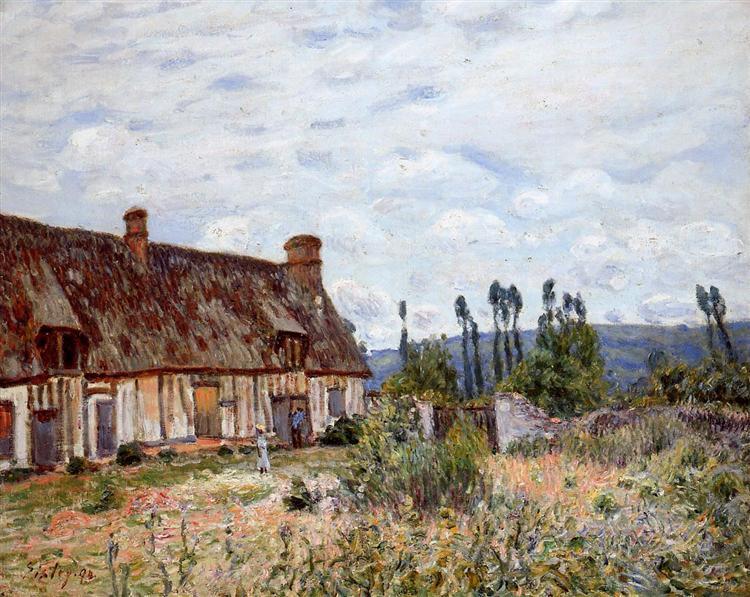 Abandoned Cottage, 1894 - Alfred Sisley