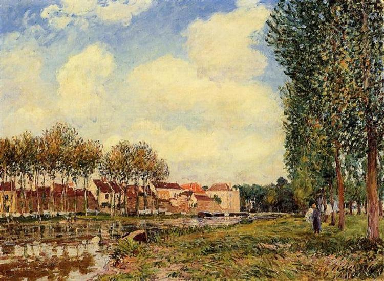 Banks of the Loing at Moret, Morning, 1888 - Alfred Sisley