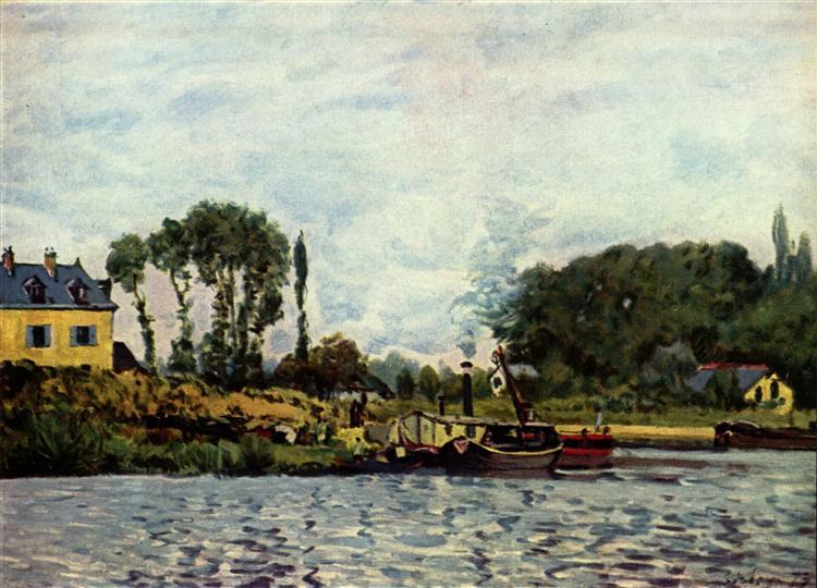 BoatsatBougival, 1873 - Alfred Sisley