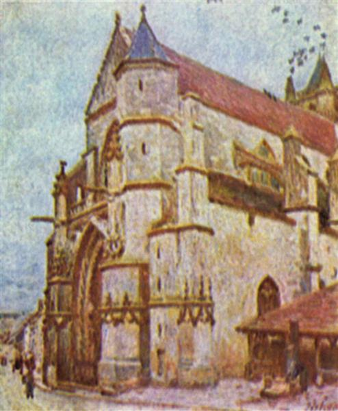 Church of Moret, 1893 - Alfred Sisley