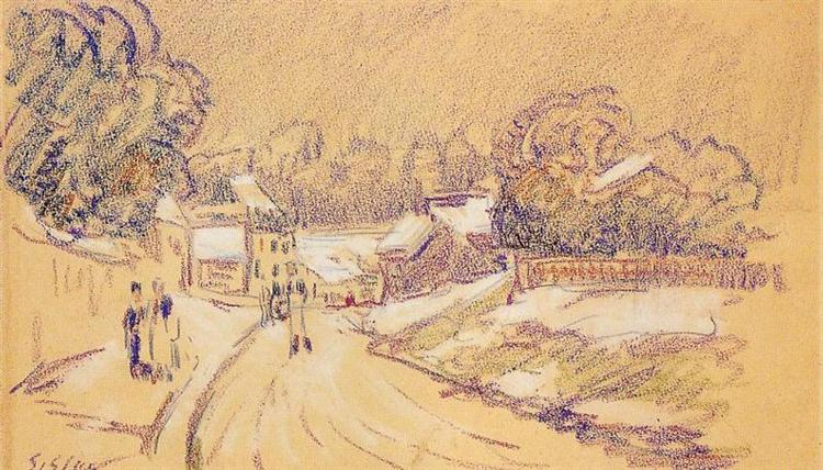 Early Snow at Louveciennes, c.1871 - 1872 - Alfred Sisley