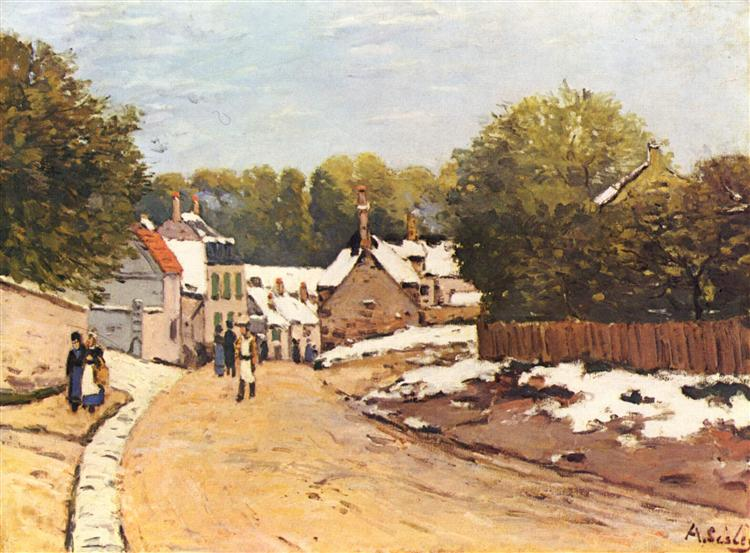 First Snow in Louveciennes, 1870 - Alfred Sisley