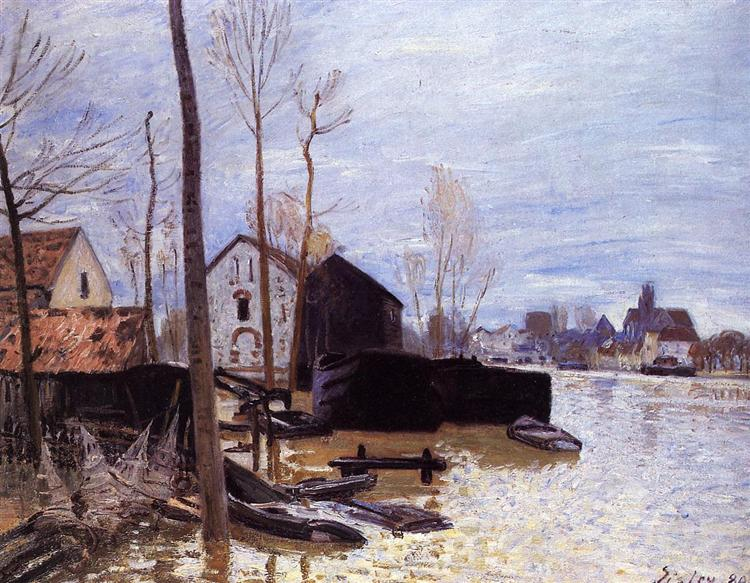 Flooding at Moret, 1889 - Alfred Sisley