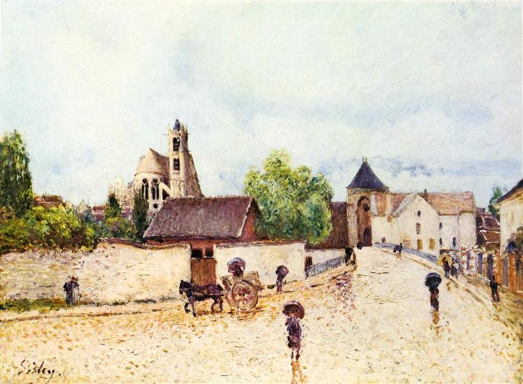 Loing at Moret in the rain, 1887 - 1888 - Alfred Sisley