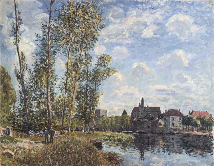 May Afternoon on the Loing, 1888 - Alfred Sisley