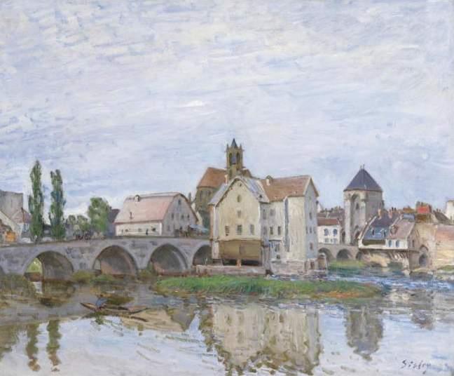Moret on Long Time Gray, c.1892 - Alfred Sisley