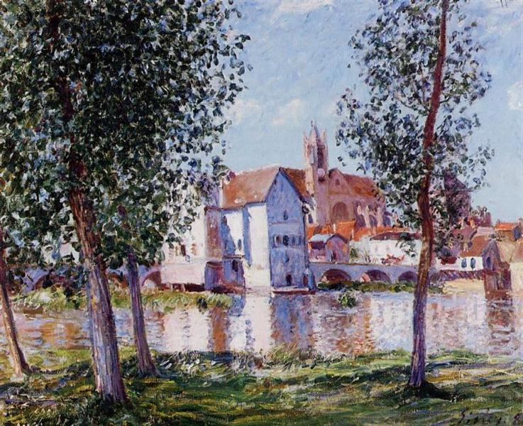 Moret sur Loing, 1888 - Alfred Sisley