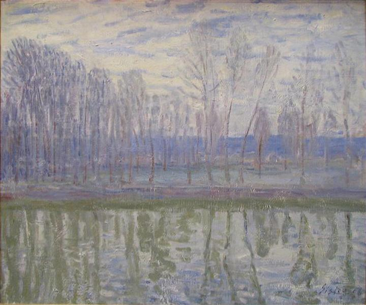 On the Banks of the River Loing - Alfred Sisley