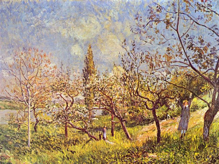 Orchard in spring, 1881 - Alfred Sisley