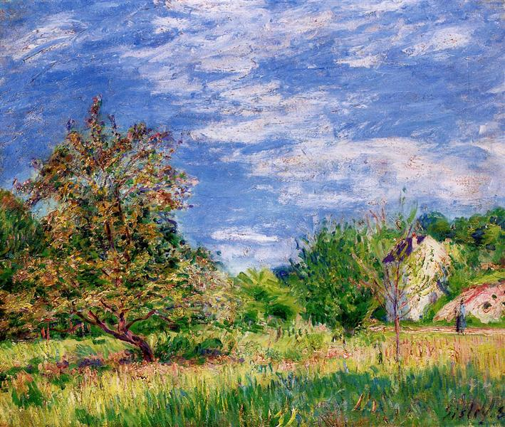 Orchard in Spring, 1889 - Alfred Sisley