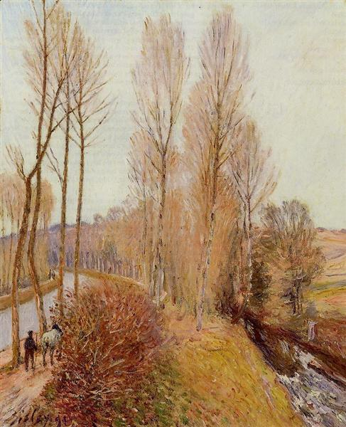Path along the Loing Canal, 1891 - Alfred Sisley