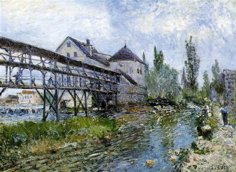 Provencher s Mill at Moret, 1883 - Alfred Sisley