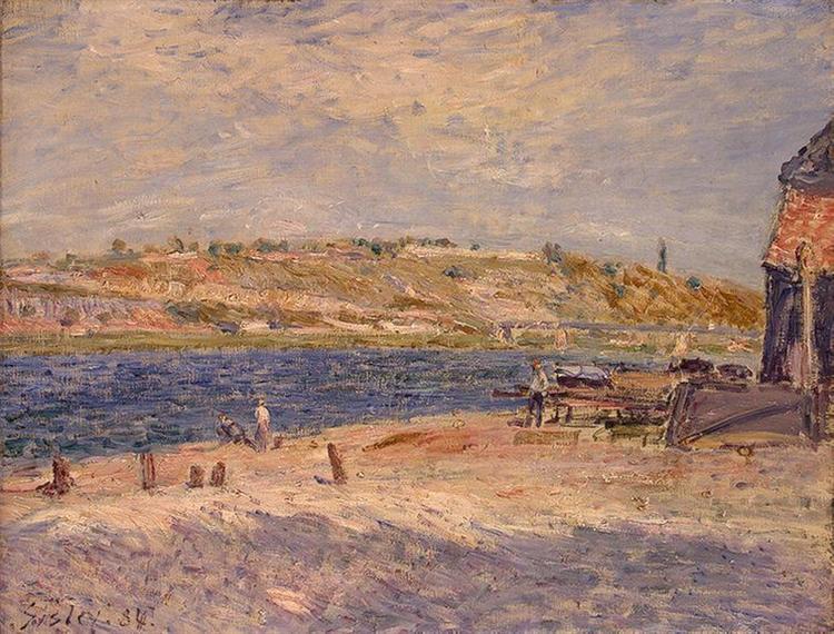Riverbanks at Saint Mammes, 1884 - Alfred Sisley