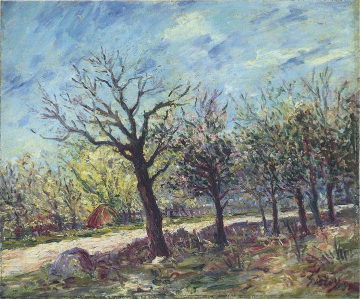 Sablons in Spring, 1890 - Alfred Sisley