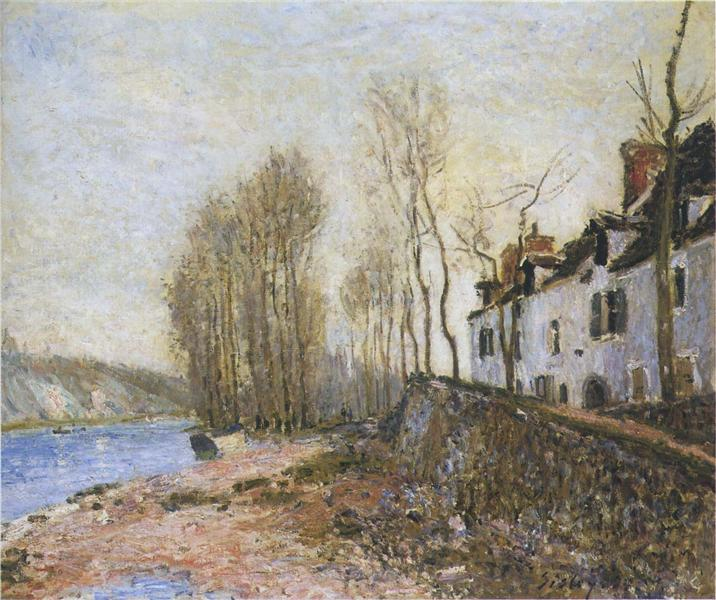Saint Mammes in Winter - Alfred Sisley