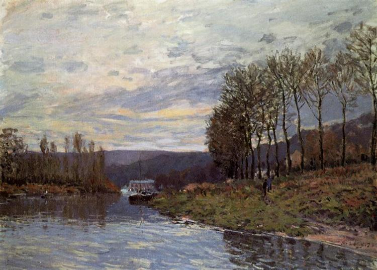 Seine at Bougival, 1873 - Alfred Sisley