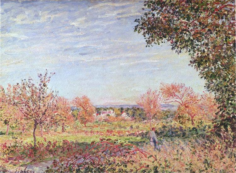 September Morning, 1887 - Alfred Sisley