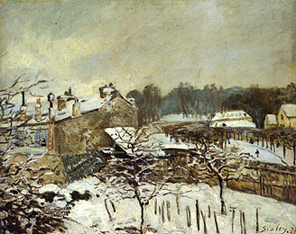 Snow Effect at Louveciennes, 1876 - Alfred Sisley