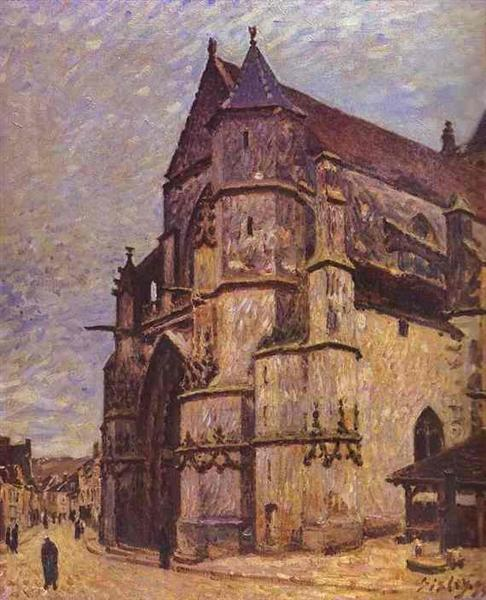The Church at Moret, Winter, 1893 - 1894 - Alfred Sisley