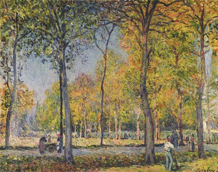 The Forest at Boulogne, c.1880 - Alfred Sisley