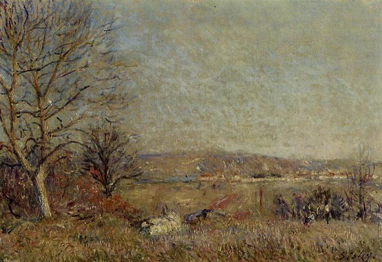 The Plain of Veneux, View of Sablons, 1884 - Alfred Sisley
