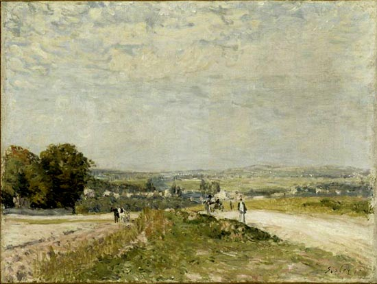TheRoadtoLouveciennesMontbuisson, 1875 - Alfred Sisley