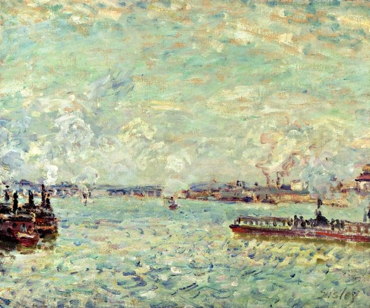 The Seine at Point du Jour, 1878 - Alfred Sisley