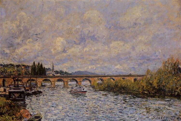 The Sevres Bridge, 1877 - Alfred Sisley
