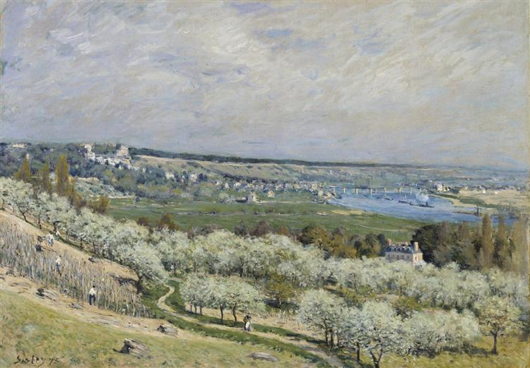 The Terrace at Saint Germain, Spring, 1875 - Alfred Sisley