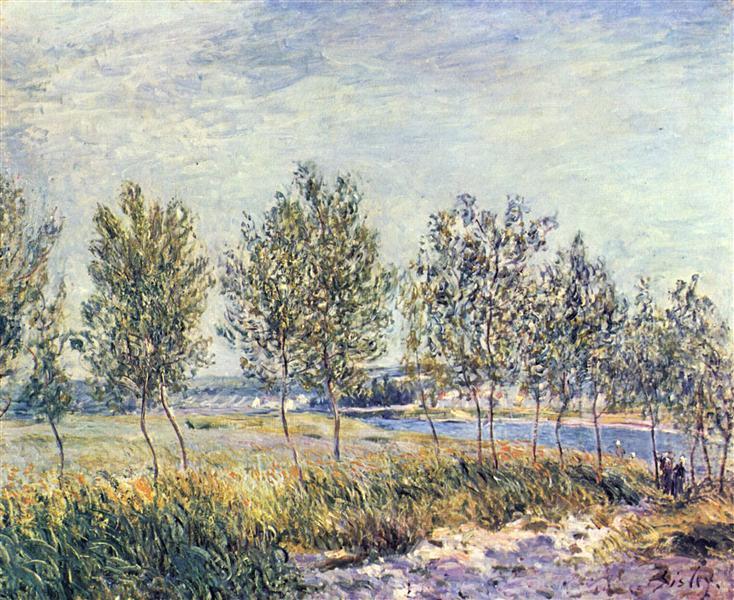 Wiese By, 1880 - Alfred Sisley