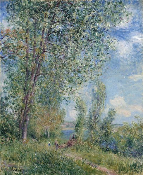 Windy Afternoon in May, c.1880 - Alfred Sisley
