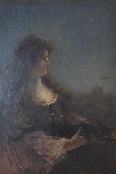 Allegory of the night - Alfred Stevens